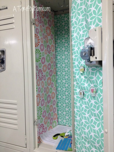DIY Locker Wallpaper For a Fraction of the Price!