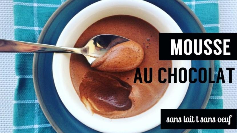 mousse au chocolat - recettes végétariennes et vegan - atirelarigot