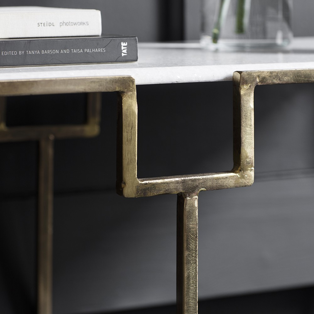 Slim Bar Stools Gatsby Marble Top Console Table
