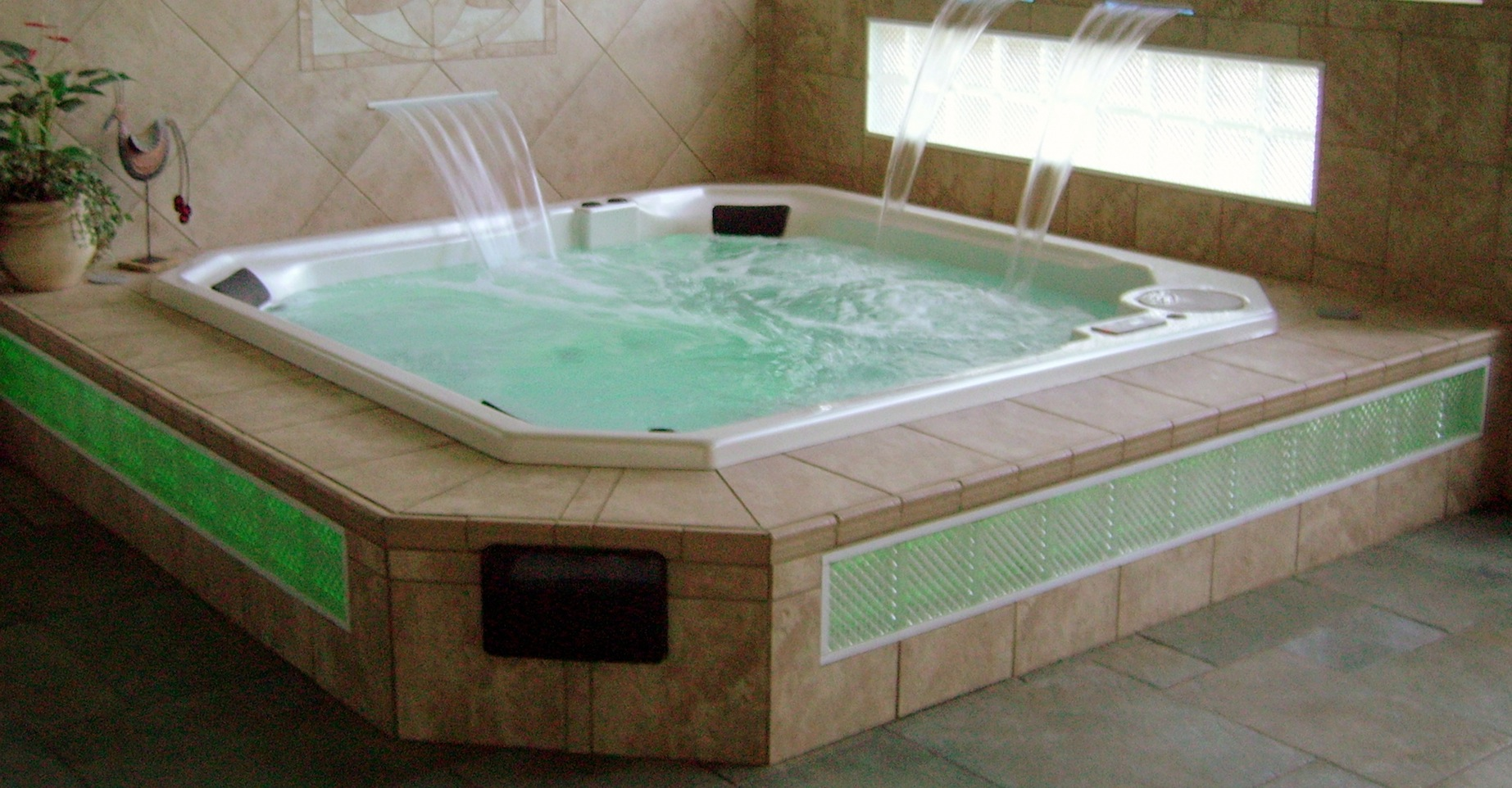 Jacuzzi Pool In Ground Custom Spa Hot Tub Installation