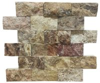 Antique Blend Split Face Travertine Mosaic Tiles 24 ...