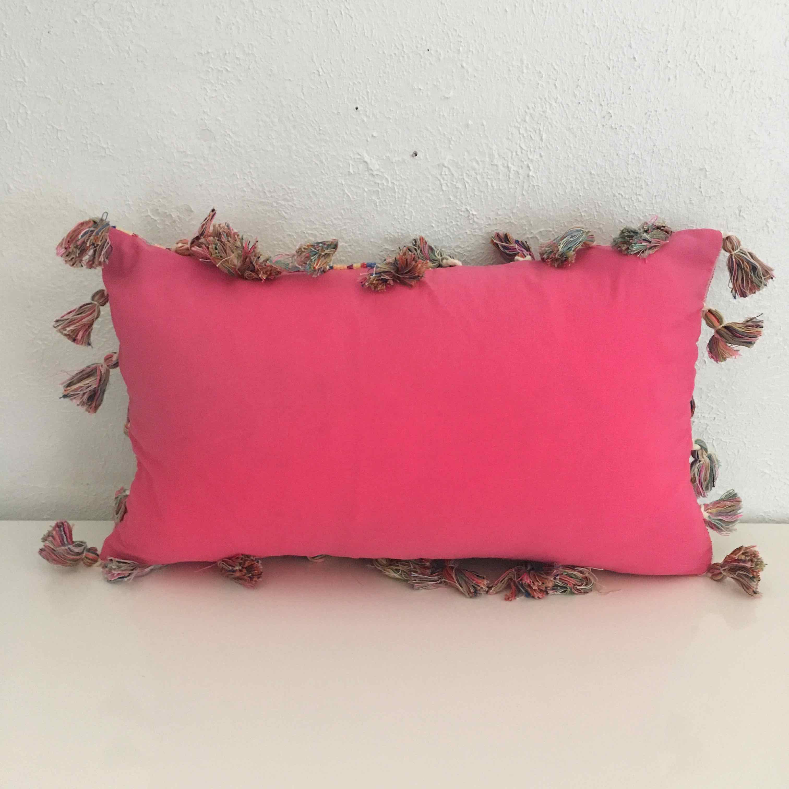 Tassel Pink Pillow  Atlantis Home