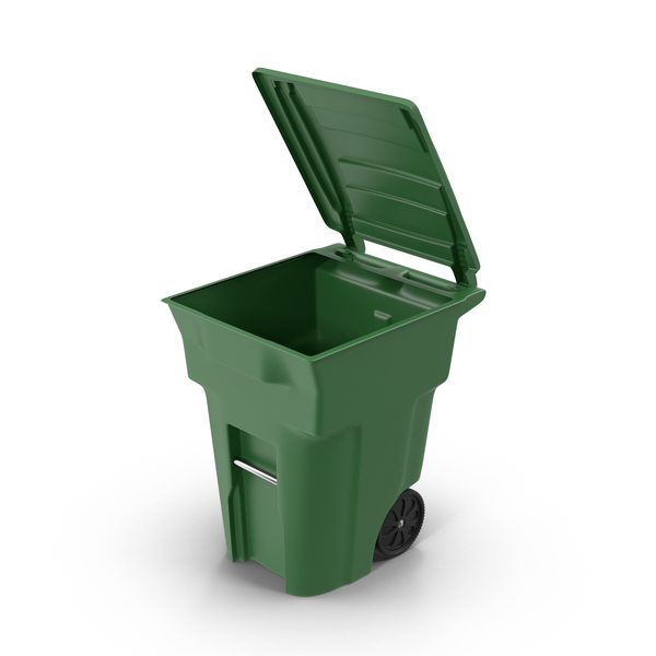 Mockup Box Open Free Green Open Trash Bin Png Images & Psds For Download
