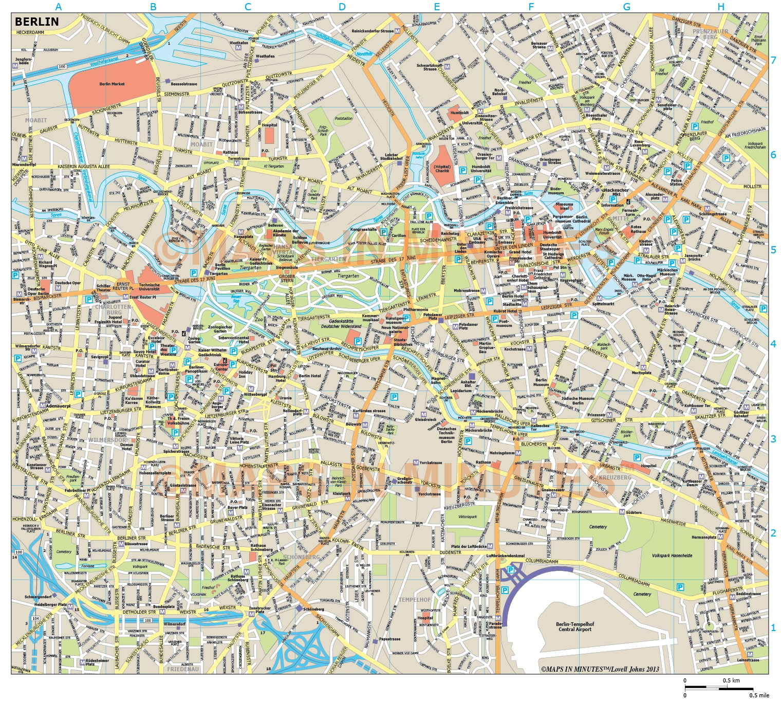 Stadtkarte Paris Berlin City Map In Illustrator Cs Or Pdf Format