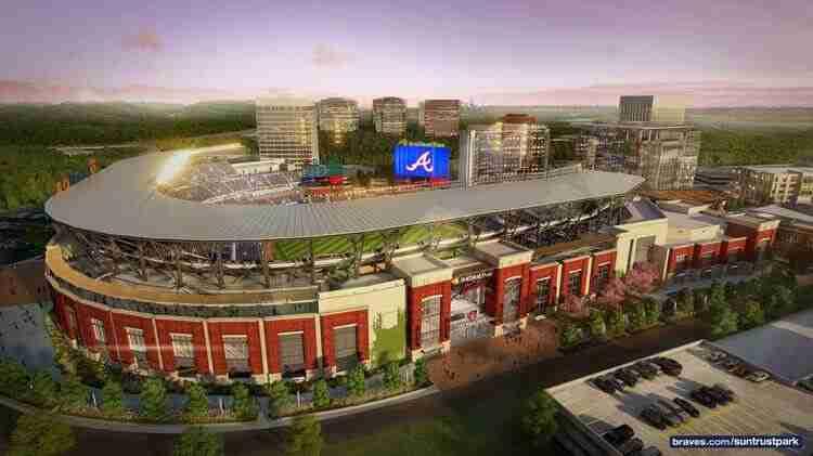 SunTrust Park, the new home of the Atlanta Braves Atlanta Peach Movers