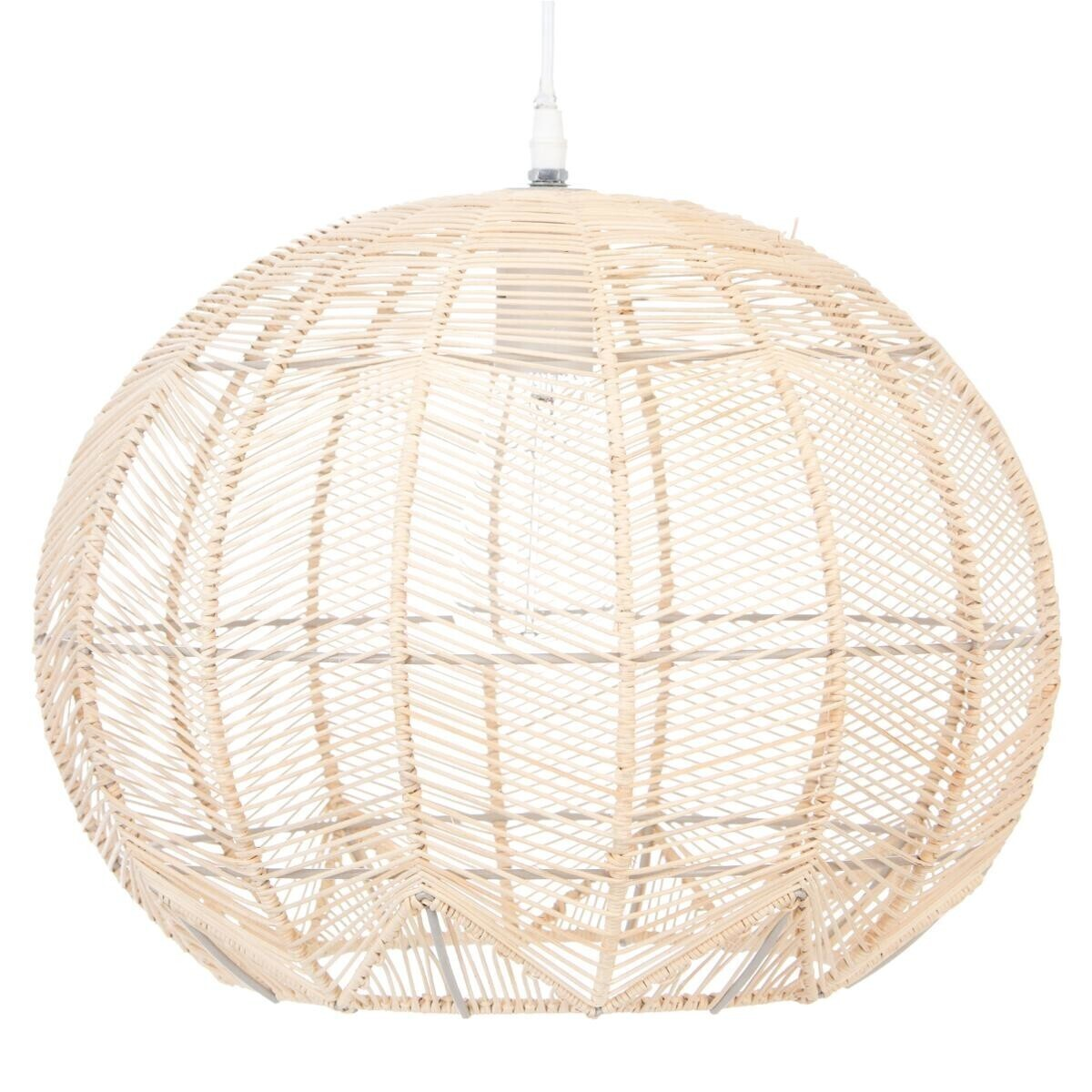 Lustre En Rotin Suspension En Rotin D38xh32 Atmosphera