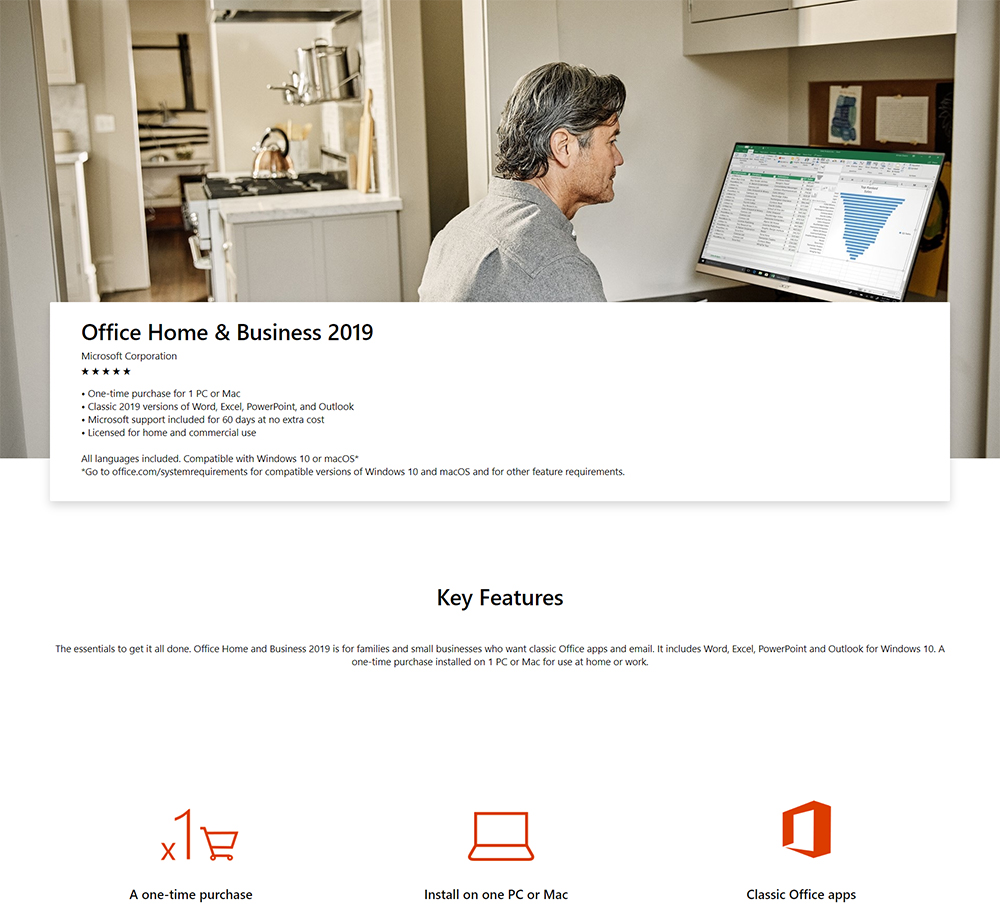 Outlook Pack Office Microsoft Office Home And Business 2019 Retail Pack