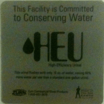 HEU - High Efficiency Urinal
