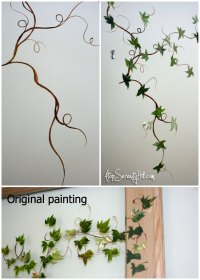 Easily extend a framed painting with handpainted elements ...
