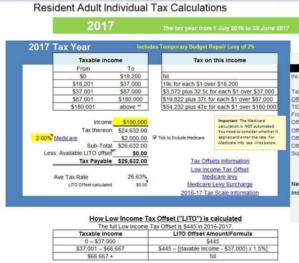 Income Tax Calculator - AtoTaxRatesinfo - income tax calculator