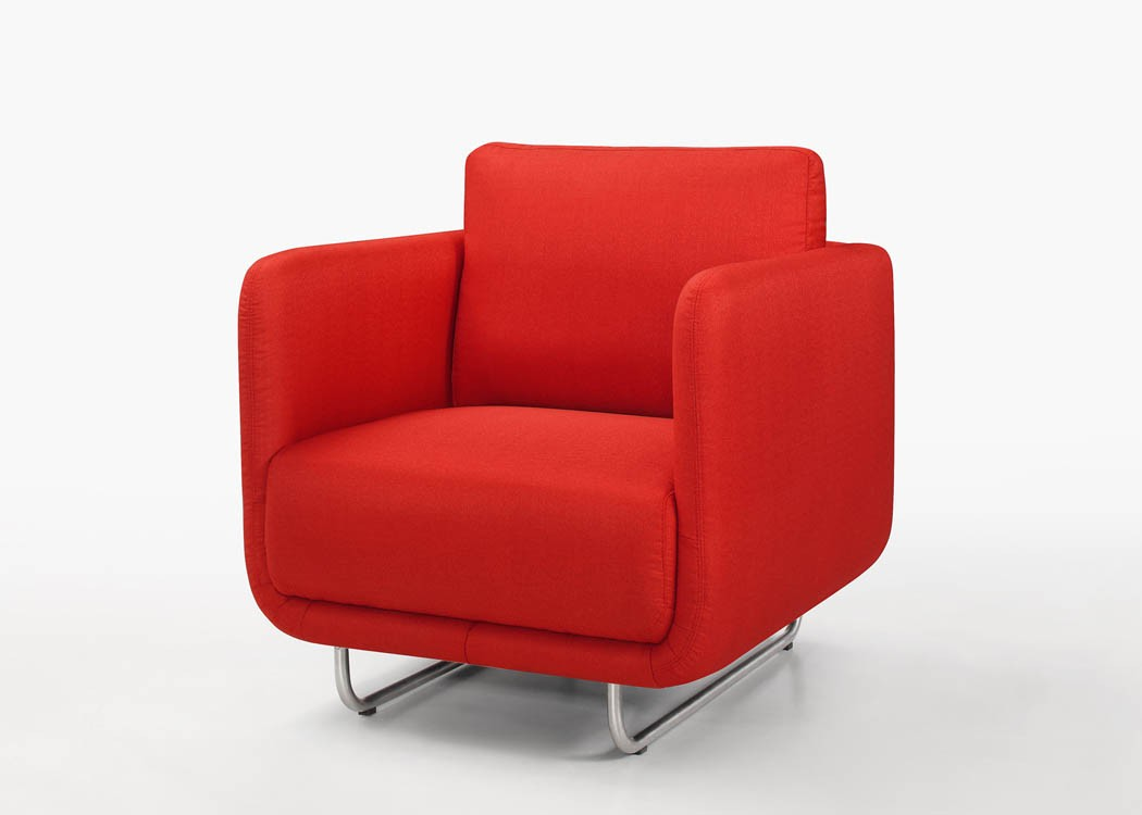 Fauteuil Rouge Moderne Fauteuil Moderne Ling Tissu Rouge Atout Mobilier