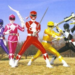 Mighty Morphin Power Ranger costume inspiration with weapons