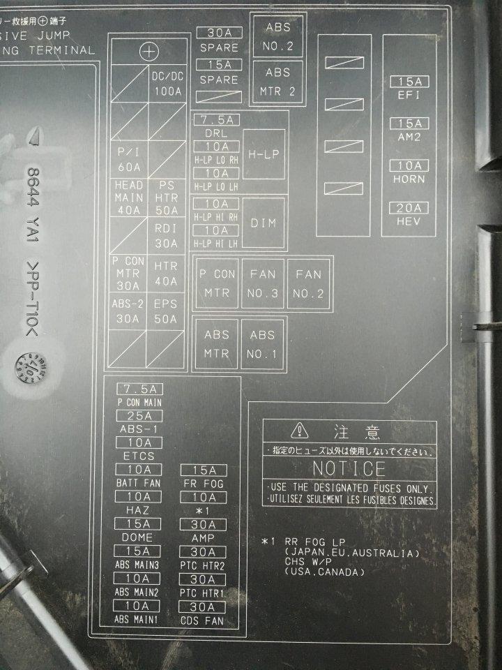 Prius Fuse Box Layout Wiring Diagram