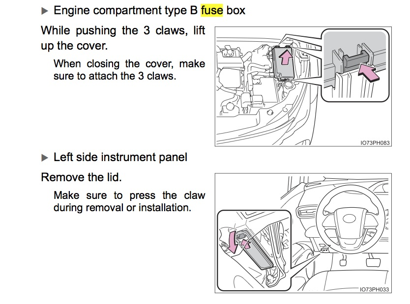 Prius Fuse Box Location Better Wiring Diagram Online