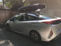 Prius Prime Roof Rack & Cargo Box Combo that WORKS ...