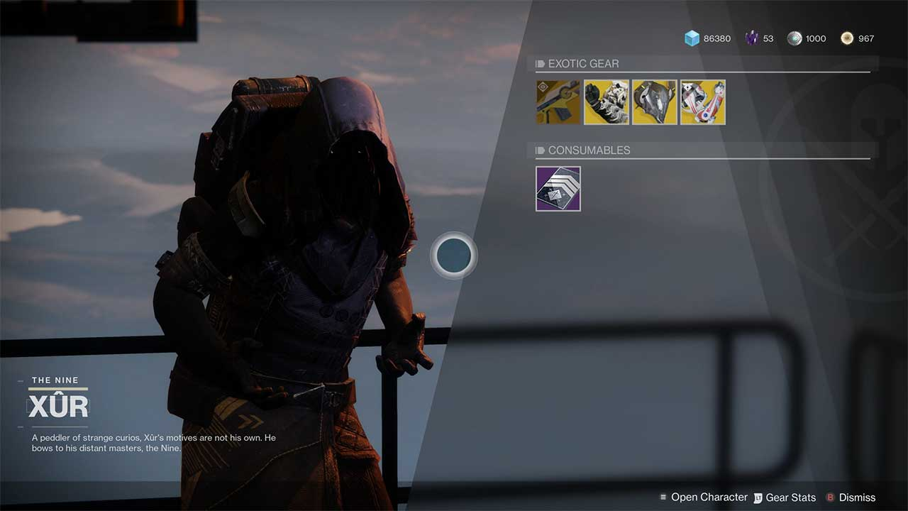 Xur Destiny 2 Xur Inventory And Location For October 11th