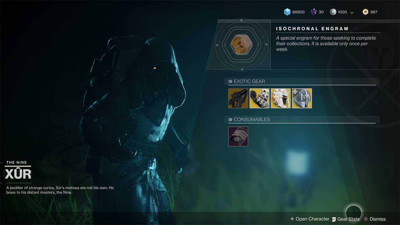 Xur Destiny 2 Where Is Xur For July 19th 2019 Attack Of