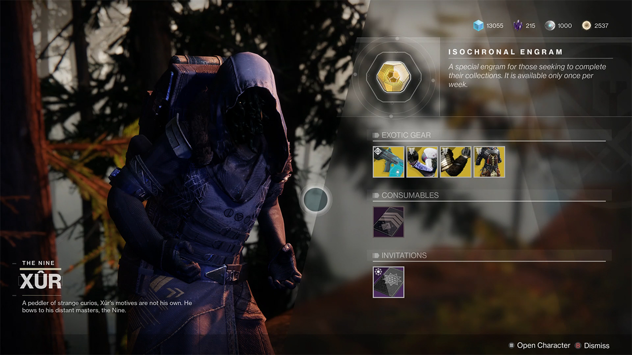 Xur Xur Location And Inventory 6 21 Attack Of The Fanboy