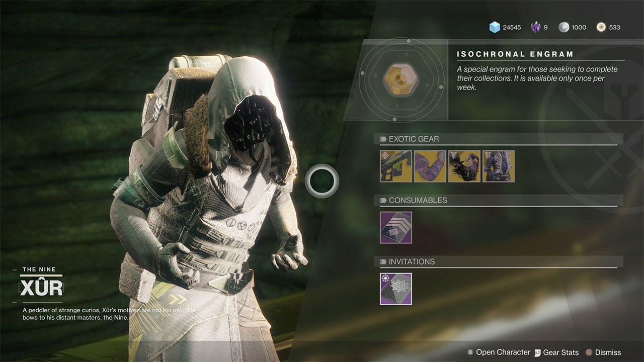 Xur Destiny 2 Xur Location And Inventory For August 9th 2019