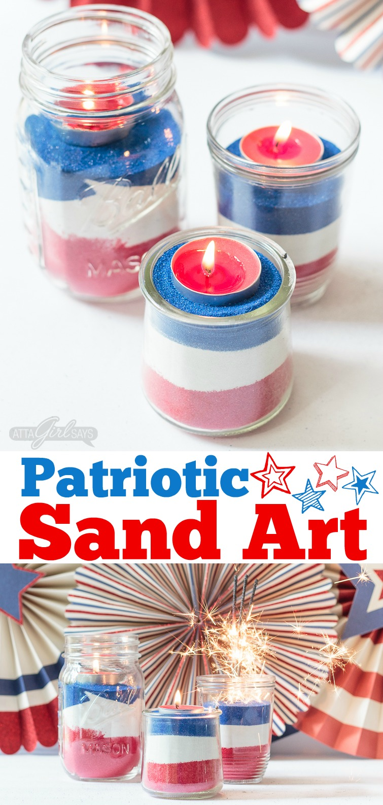 Art Decorating And Crafting Easy Sand Art For July 4th Make These With Your Kids