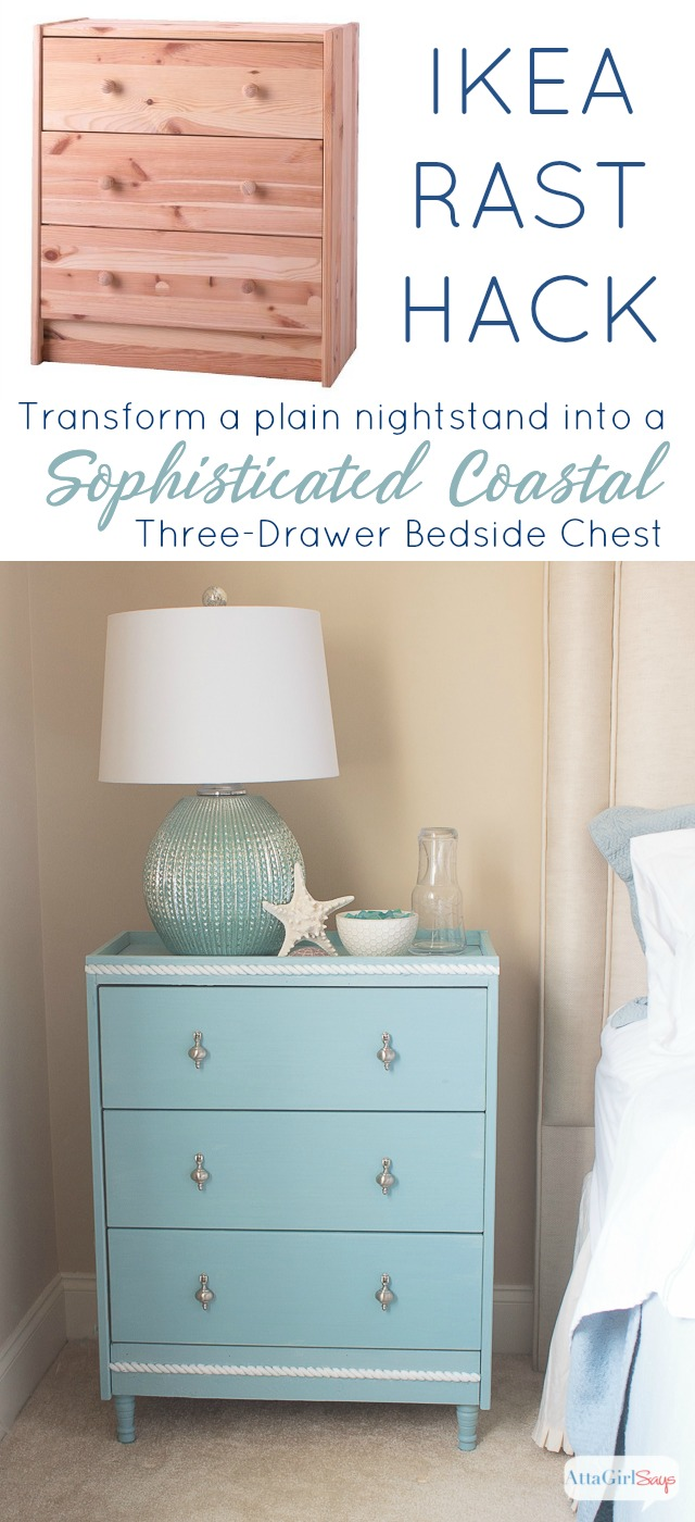 Ikea Rast Ikea Rast Hack Sophisticated Coastal Nightstand Atta Girl Says
