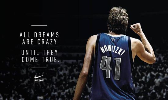Achievement Quotes Hd Wallpaper Ad Of The Day Nike Basketball Dirk Dreams The Attention