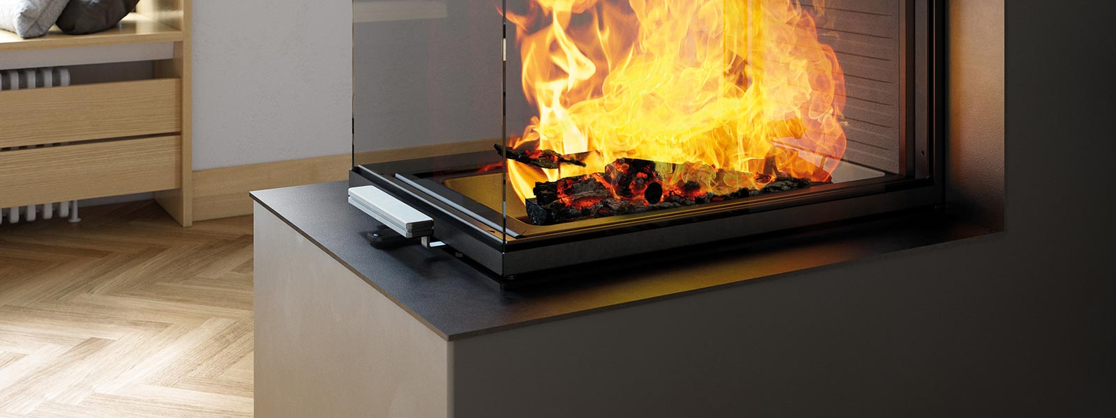 Cheminées Modulaires Cheminée Visio 3 1 St Fireplace Insert Impresses With An