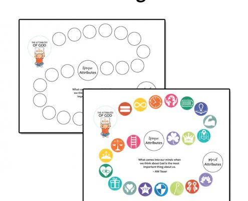 Schools - The Attributes of God for Kids - progress chart for kids