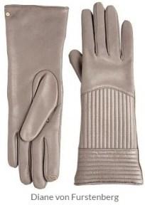Diane von Furstenberg - Channel Quilt Gloves