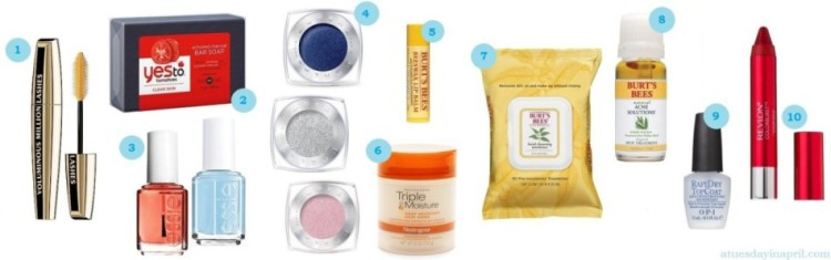 Budget Beauty Buys :: 10 Summer Beauty Items Under $10