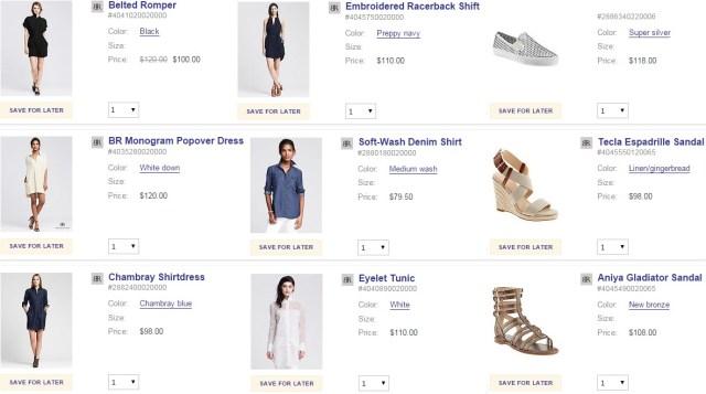 Wardrobe Wish List Banana Republic Shopping Basket