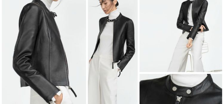 Classic Simple Chic :: Zara Leather Jacket
