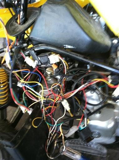 atv wiring harness mess