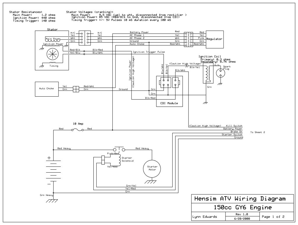 automatic 4 wheeler wiring diagram