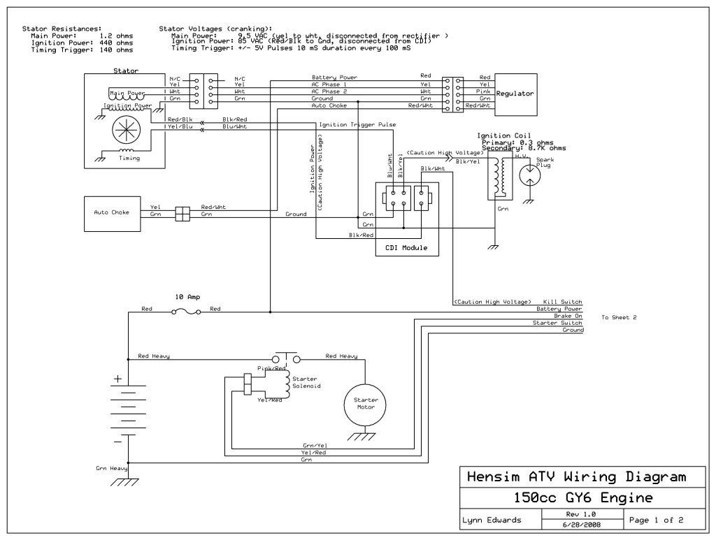 yonghe go kart motor wire diagram