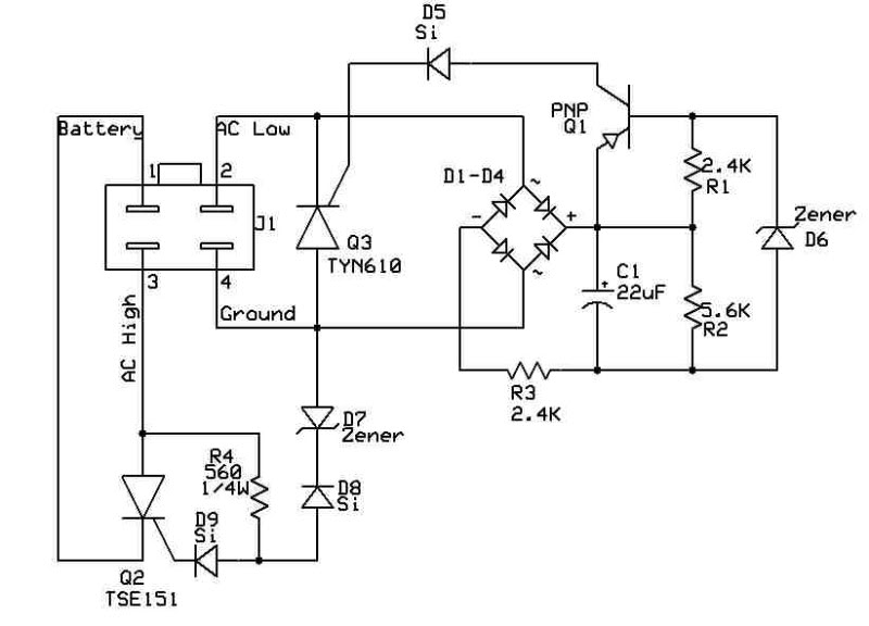 4 wire regulator schematic