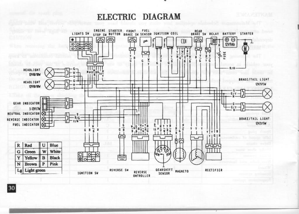 250cc Atv Wiring Diagram Switch circuit diagram template