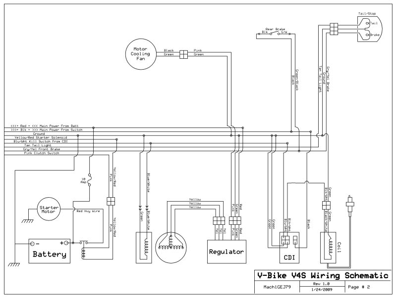 for chinese atv starter switch ledningsdiagram
