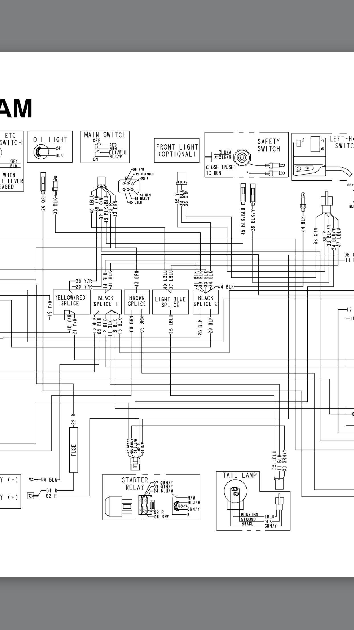atv wiring harness mess