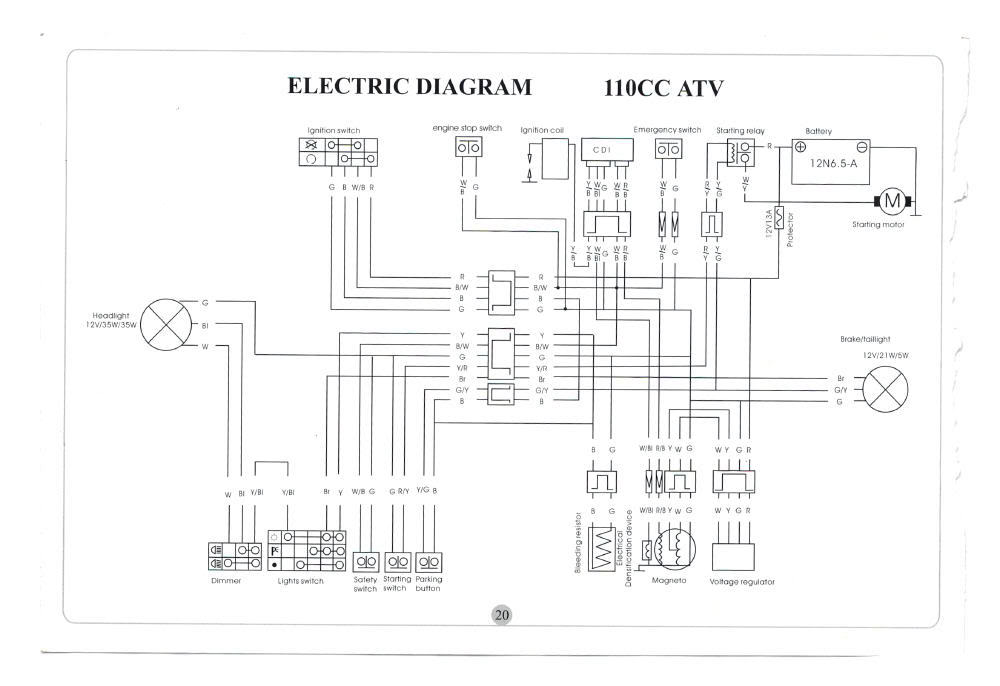 2004 honda atv wiring diagram