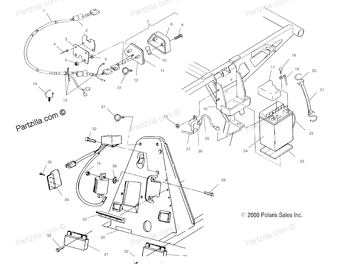 polaris trail boss 250 wiring diagram 1991