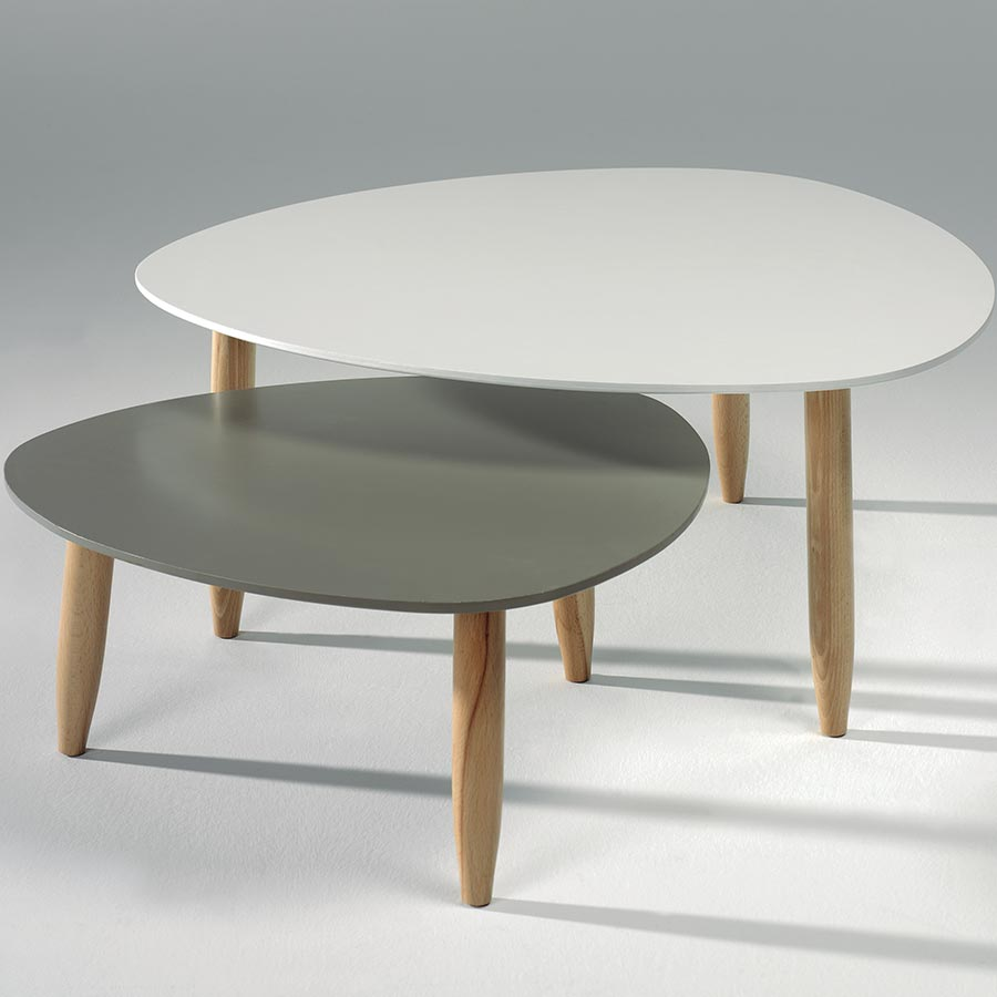 Table Basse Scandinave Blanche Table Basse Grise Et Blanche Atwebster Fr Maison Et Mobilier