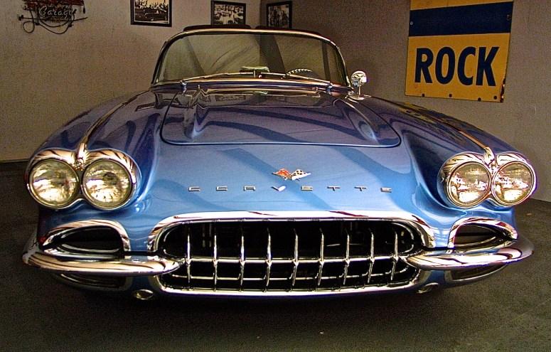 Early 60s Corvette RestoRod at Motoreum, austin TX
