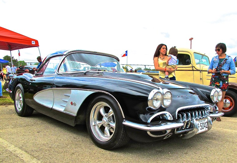 1959 Corvette in Austin TX at Lonestar Round Up