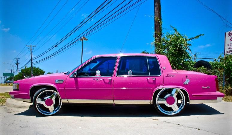 Cadillac custom pink posted
