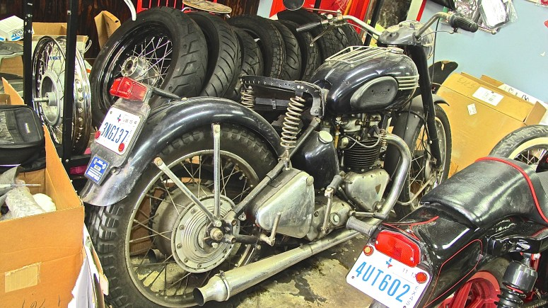 1952 Triumph 650 at Austin Moto Classics in Austin Texas