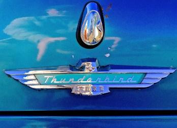 1957 Ford Thunderbird in Austin TX emblem trunk