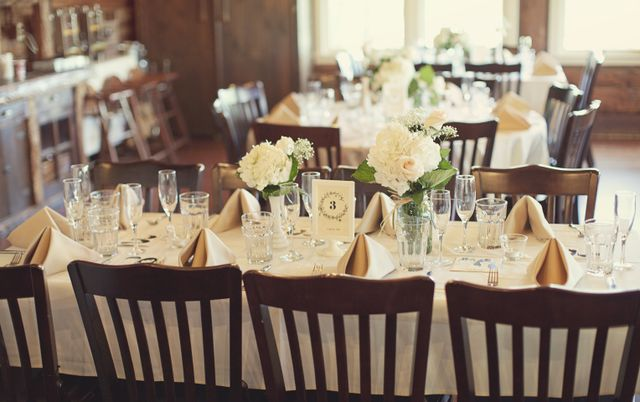 Reception Layout Trending At Your Side Planning - wedding reception setup with rectangular tables