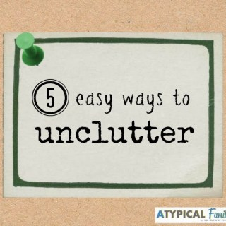 5 Ways to Unclutter