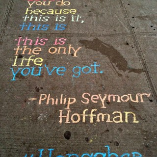 Words of Inspiration on a NYC Street #Honschar